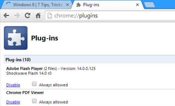 Enable Adobe Flash In Chrome